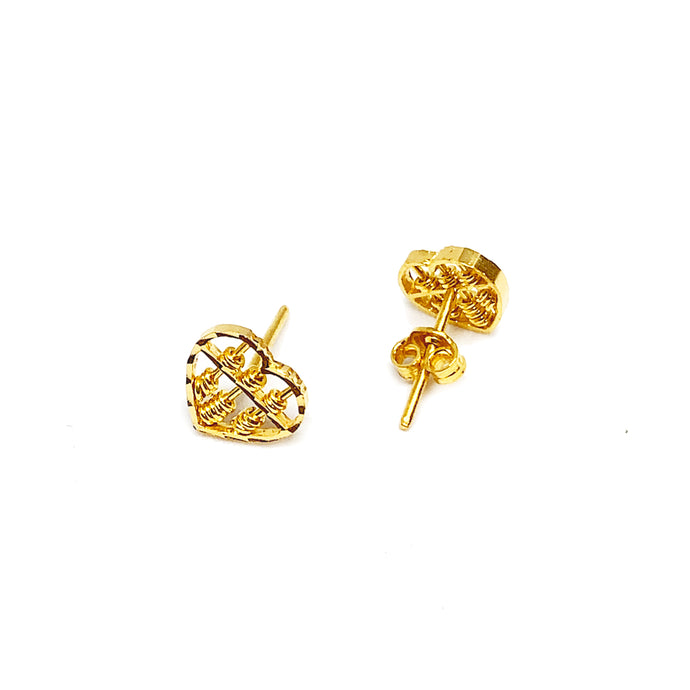 Heart Abacus Ear Stud