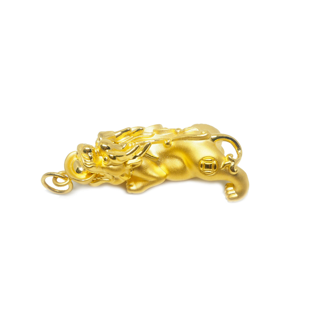 Large Pure Gold Pixiu Pendant