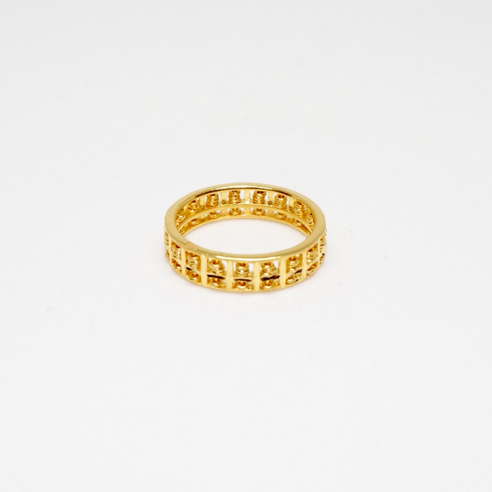 Thin Gold Round Abacus Ring