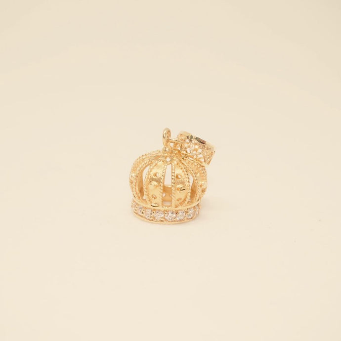 Dangling Zirconia Crown Charm