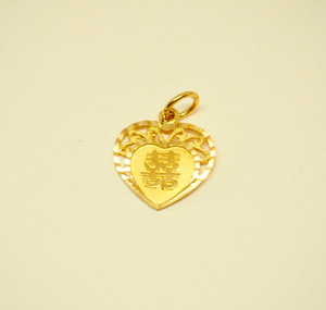 Double Happiness Heart Shaped Pendant