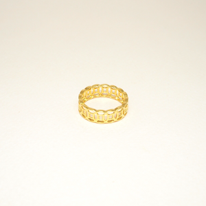 Interlinked Coins Gold Ring