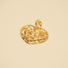 Love Birds and Double Happiness Heart Pendant