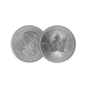 999.9 Maple Leaf Silver Coin