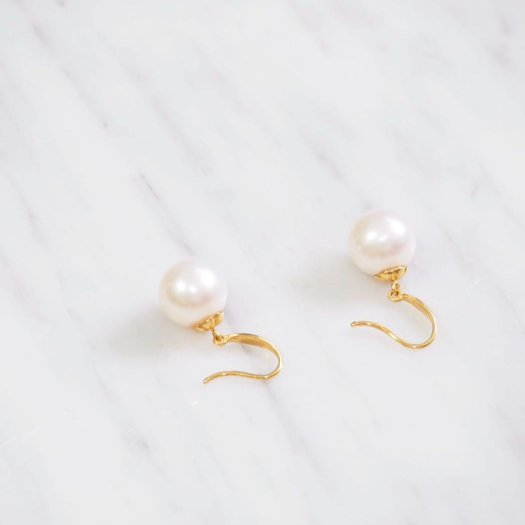Southern Sea Pearl Gold Hook Earrings