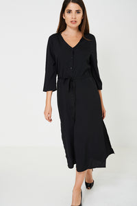 BIK BOK Black Slinky Feel Maxi Dress