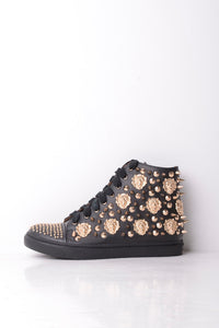 Jeffrey Campbell Handmade Spiked and Studded Leather Trainers