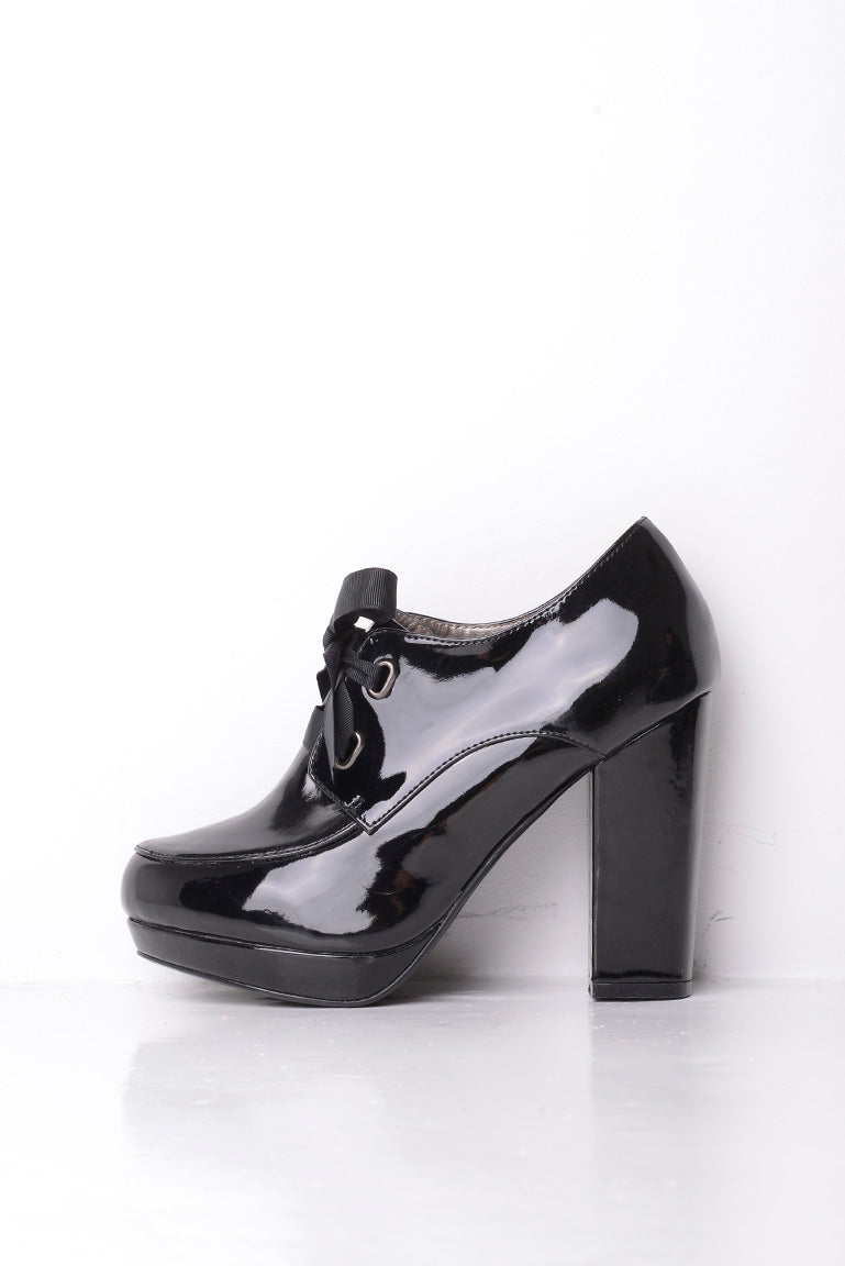 Timeless Patent Bow Block Heels