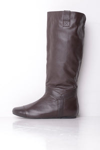 Lise Lindvig Brown Leather Knee Length Boots