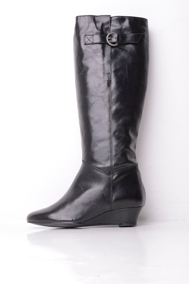 Dune Wedge Knee High Boots
