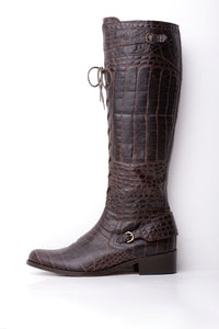 Hunter Original Snakeskin Pattern Knee Length Boots