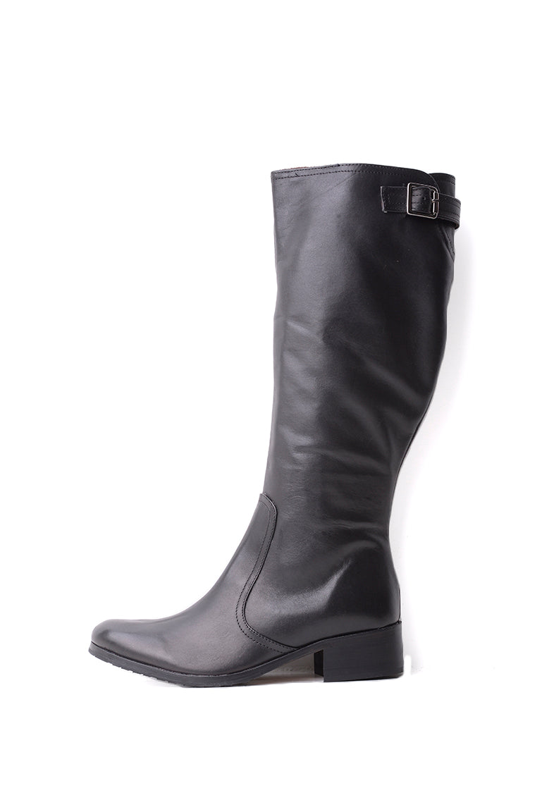 Jean-Louis Scherrer Black Leather Boot