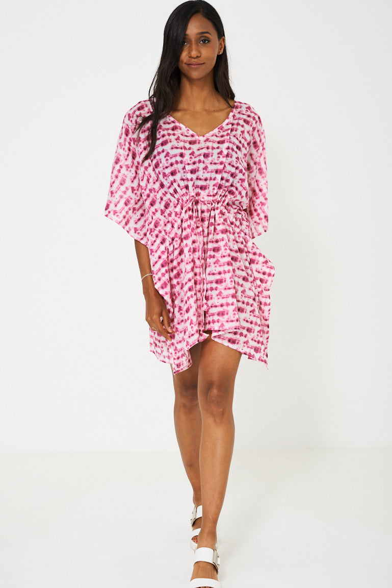 Patterned Kaftan in Pink