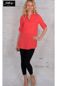 JOTHIRTY Weekend Shirt in Hot Coral