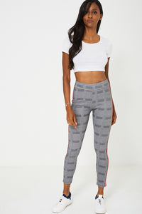 Dog Tooth Check Side Stripe Legging