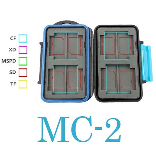 New MC-2 Anti-shock Waterproof DC Memory Card Case Holder Hard Storage Box for 4CF 8SD ABS & Rubbe
