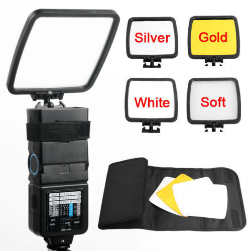 3 color Flash Reflector/Diffuser Kit for Nikon SPEEDLIGHT SB-910 SB-900 SB-800/700/600,for Canon YONGNUO YN600EX-RT Flash