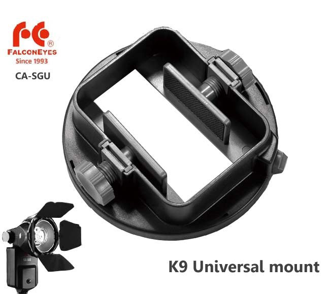 FALCONEYES Flash Adapter Kit Accessory for K9/K-9 Universal Mount CA-SGU Speedlite for SGA-K9