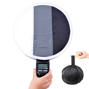 New Portable 31cm Grey Gray Card Diffuser Softbox For Canon Nikon Sony Speedlight Flash Light White Balance Soft Box