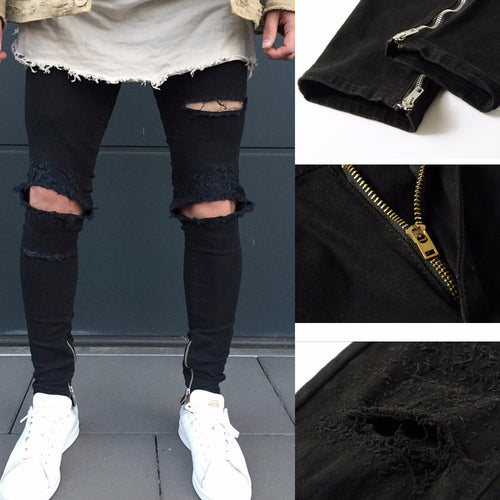 Mens Ripped Slim Fit Jeans