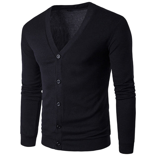 Mens Knitted Navy Cardigan