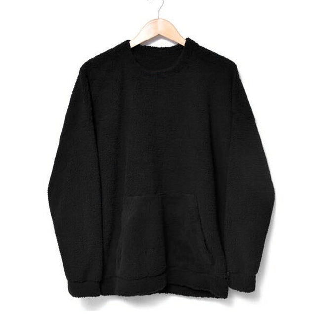 Mens Fleece Crew Neck Jumper