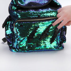 Double Color Sequins Backpack