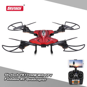 Original Skytech TK110HW Wifi FPV 0.3MP Camera Foldable RC Quadcopter G-sensor Altitude Hold RC Selfie Drone RTF