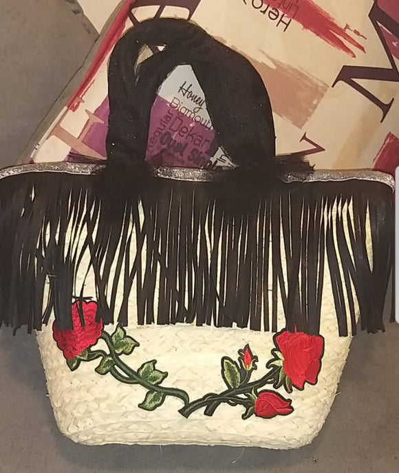Wicker bag for beach