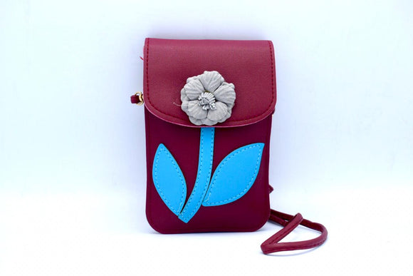 Flower Bag Vertical Red