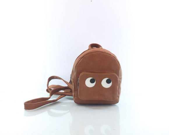 Cartoon backpack women brown