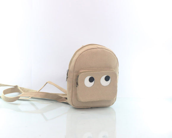 Cartoon backpack women beige