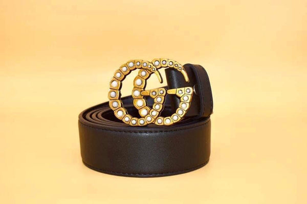 Gucci belt women pearl
