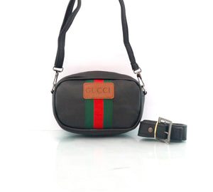 Gucci belt and cross women bag black