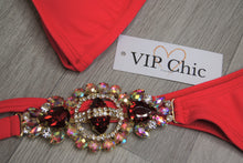 The Amber Crystal Bikini in Red - VIP Chic London