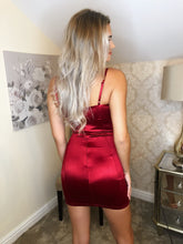 NEW-Cut to the Chase Mini Dress in Wine - VIP Chic London