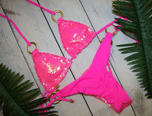 The Itty Bitty Sequin Bikini In Hot Pink - VIP Chic London