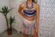Multicoloured Crystal Chain Top - VIP Chic London