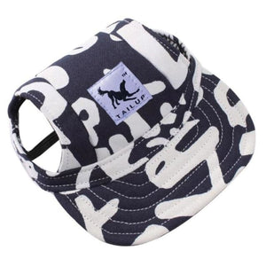 Adorable Dogs Baseball Cap - Blue Letter / S