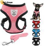 Breathable Air Nylon Mesh Puppy Dog Harness and Leash Set