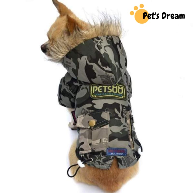 Camouflage Wind Coat for Small Dogs