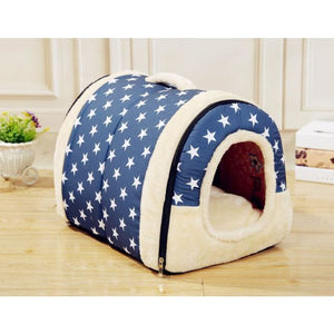 Dog House Kennel Nest With Mat Foldable - 2 / S