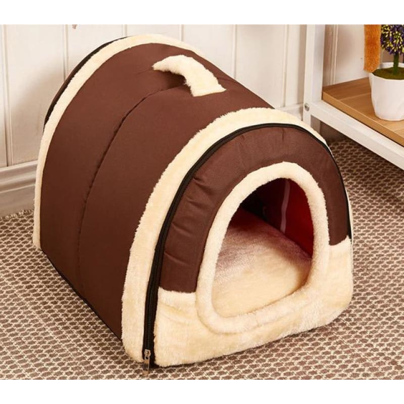Dog House Kennel Nest With Mat Foldable - 3 / S