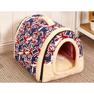 Dog House Kennel Nest With Mat Foldable - 4 / S