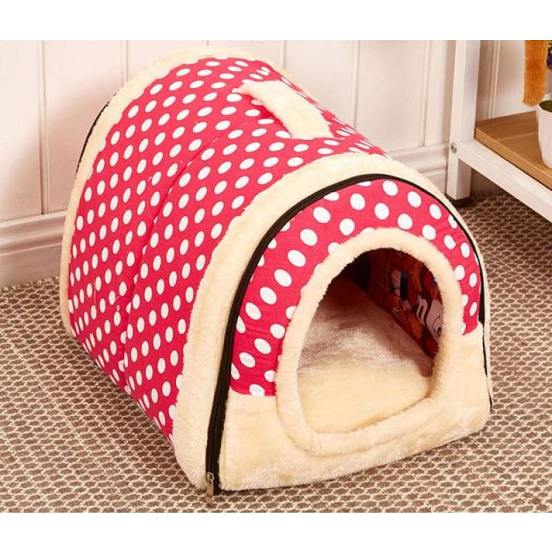 Dog House Kennel Nest With Mat Foldable - 5 / S
