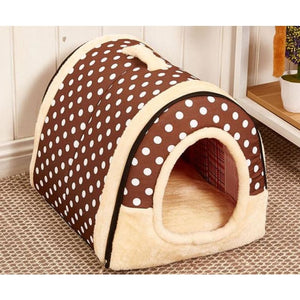 Dog House Kennel Nest With Mat Foldable - 6 / S