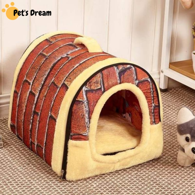 Dog House Kennel Nest With Mat Foldable