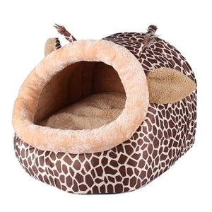 Giraffe Pattern Cozy Pet House - S - Houses Kennels & Pens