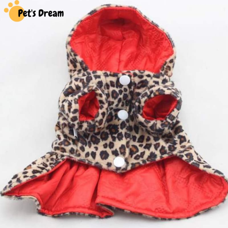 Leopard- Pattern Coat (Both- Sides Wear)