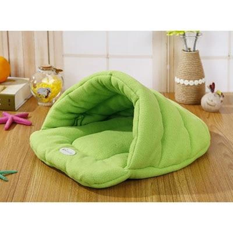 Pet Cozy Cave Sleeping Bag - Light Green / S 33x30cm - Houses Kennels & Pens